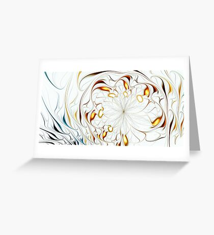 Flower Waves Greeting Card