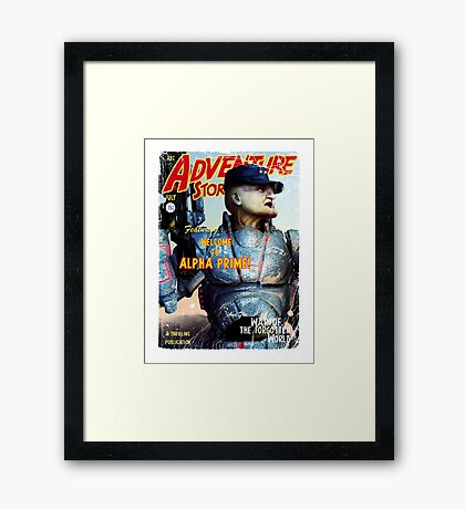 Adventure Stories Welcome to Alpha Prime Framed Print