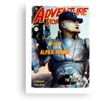 Adventure Stories Welcome to Alpha Prime Canvas Print