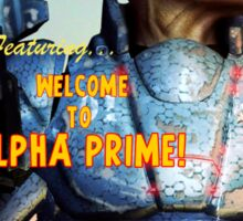 Adventure Stories Welcome to Alpha Prime Sticker