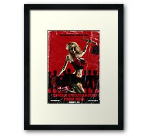 Zombie Cheerleader From Hell Tee Shirt Framed Print