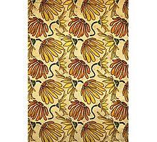 Retro 70's Golden Yellow Daisy Pattern  Photographic Print