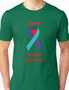 Support Suicide Awareness - Ribbon Unisex T-Shirt