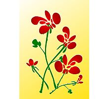 Rooster Flowers Photographic Print