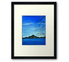 Round Valley Lake Framed Print
