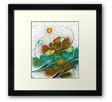 Flower Wind Framed Print