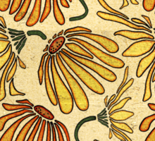 Retro 70's Golden Yellow Daisy Pattern  Sticker