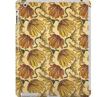 Retro 70's Golden Yellow Daisy Pattern  iPad Case/Skin