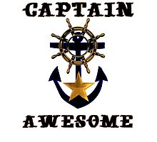 Captain Awesome - Sailor Nautical Fishing Photographic Print