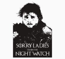Samwell Tarly - Sorry Ladies, I'm on the Night Watch by 525Kiba