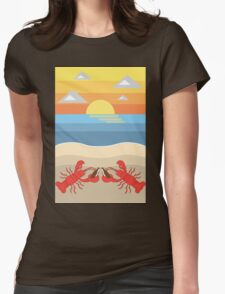 Lobster Cheers Womens Fitted T-Shirt