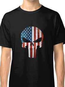 The Punisher American Flag Grunge Classic T-Shirt