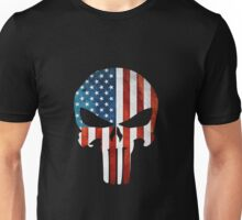 The Punisher American Flag Grunge Unisex T-Shirt