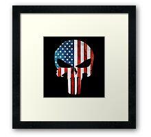 The Punisher American Flag Grunge Framed Print