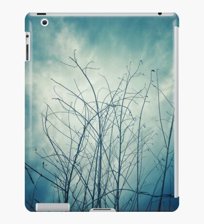 Dark Tree Stems With Blue Sky Bacground iPad Case/Skin