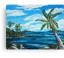 Caribbean Shore Canvas Print