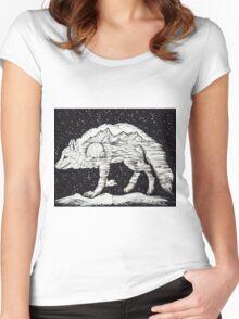 Polar fox Women's Fitted Scoop T-Shirt