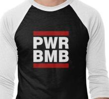 PWR BMB WHITE Men's Baseball ¾ T-Shirt