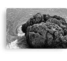 Rocks on the sea Canvas Print