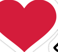 I love Ping Pong table tennis Sticker