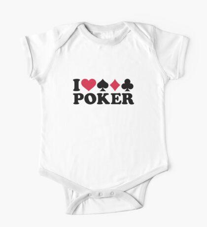 I love Poker gambling One Piece - Short Sleeve