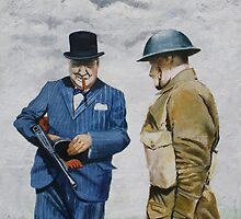 WWII Winston Churchill by Jan Szymczuk