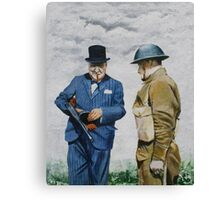 WWII Winston Churchill Canvas Print