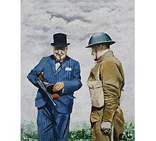 WWII Winston Churchill Photographic Print