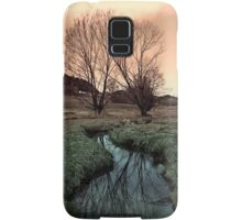 A stream, dry grass, reflections and trees II | waterscape photography Samsung Galaxy Case/Skin