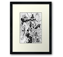 Spider-Men Framed Print