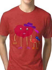 heart and son Tri-blend T-Shirt
