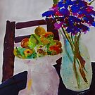 Still life - silk paint on Fabriano smooth by Margaret Morgan (Watkins)