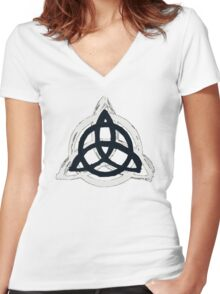 Urban Triquetra Women's Fitted V-Neck T-Shirt