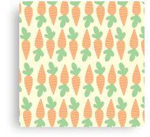 Cute Carrots Canvas Print