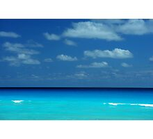 Tropical ocean view in the middle of sunny day in Cancun Mexico Photographic Print