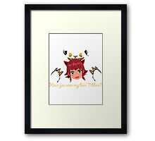 LoL - Have you seen my bear Tibbers? Framed Print