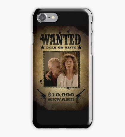 Buffy Spike and Joyce Wanted iPhone Case/Skin