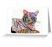 whiskers the cat  Greeting Card