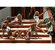 Blonde models only posing for White Tank Project - stairs Photographic Print