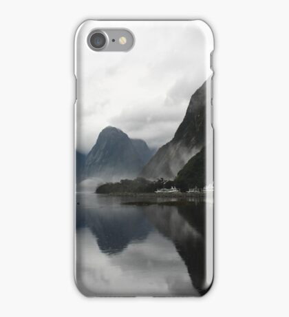Morning reflections - Milford Sound iPhone Case/Skin