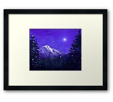 Moon Mountain Framed Print