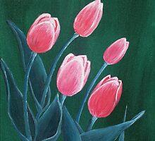 Pink Tulips by Anastasiya Malakhova