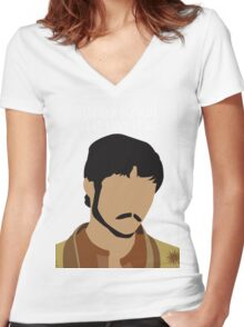 PRINCE OBERYN-1  Women's Fitted V-Neck T-Shirt