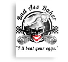 Bad Ass Baker: Skull 7 Metal Print