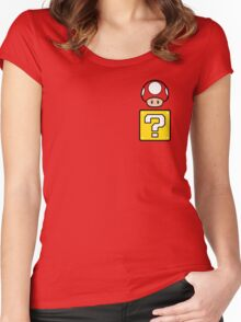 Mario Mushroom in your Pocket Women's Fitted Scoop T-Shirt