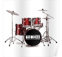 Buffy The Bronze Sunnydale Drums  Poster