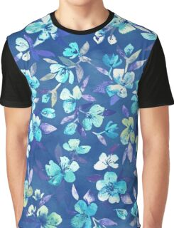 Grown Up Betty - blue watercolor floral Graphic T-Shirt