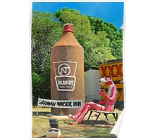 The Big Pink Panther and the Big Beer Bottle Poster