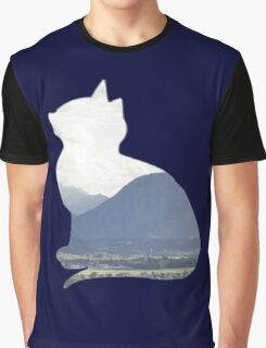 Mountain Cat Graphic T-Shirt