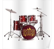 Buffy SHS Sunnydale High School Drums Poster